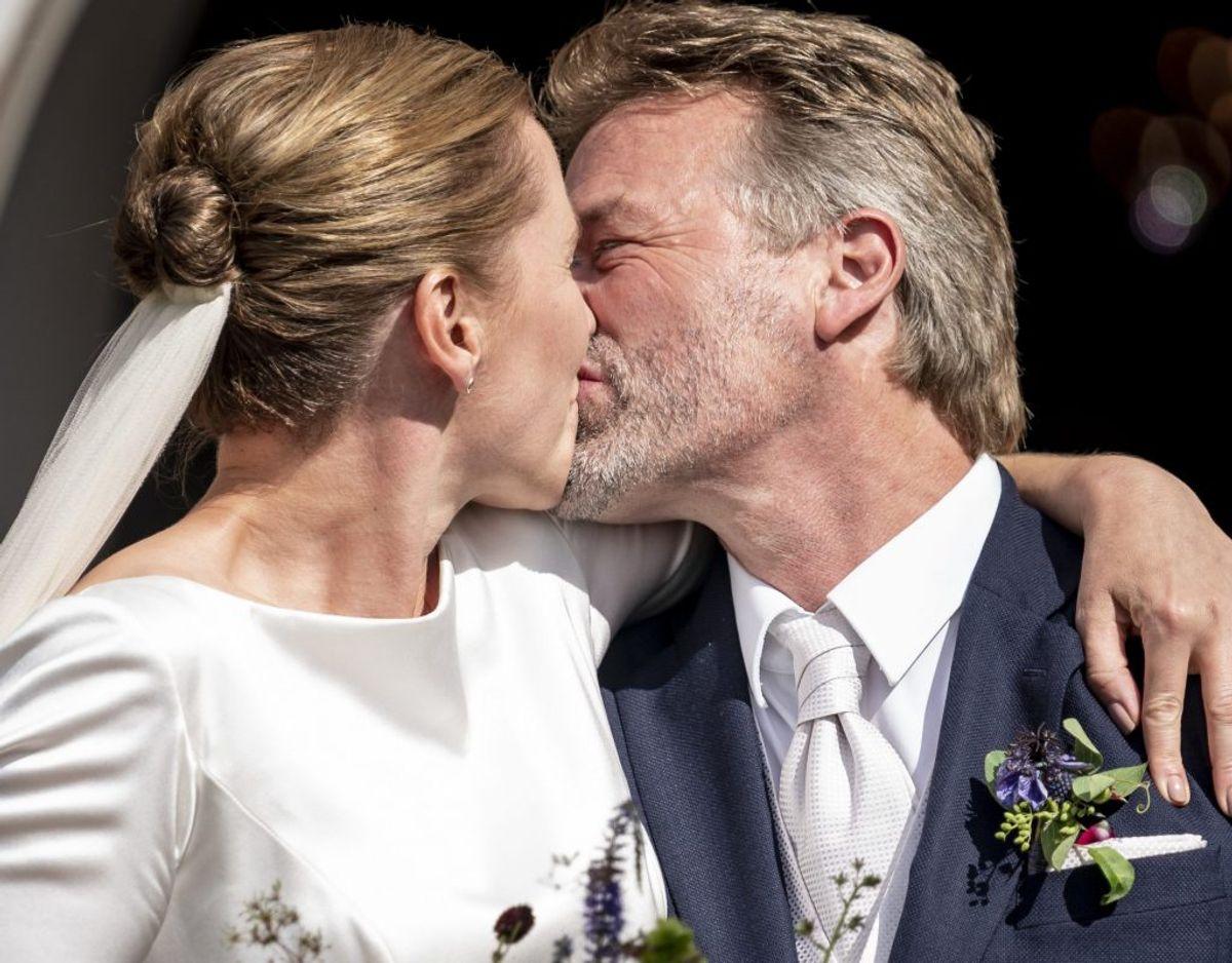 Det var ellers planen, at Mette Frederiksen og Bo Tengberg skulle havde giftet sig i sommeren 2019, men det blev udskudt på grund af valget, hvor hun som bekendt blev statsminister. KLIK for flere kendis-bryllupper. Foto: Mads Claus Rasmussen, Scanpix.