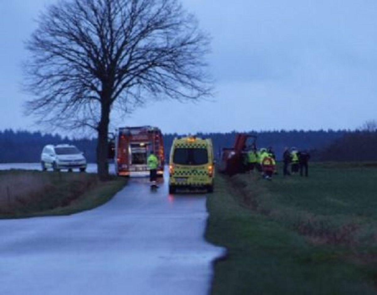 Politiet advarer om glatte veje. Foto: Presse-fotos.dk.