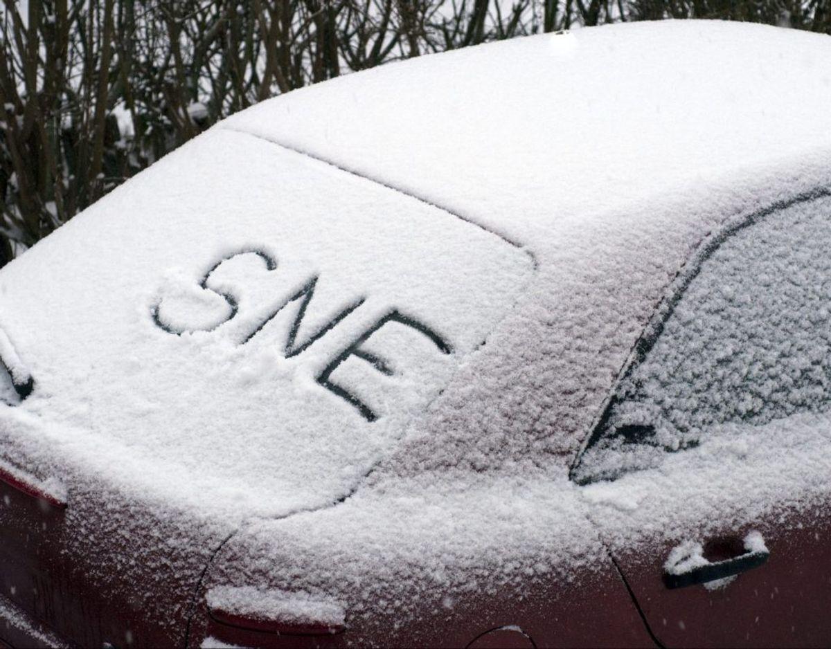 Det skal være ganske vist: Der er sne på vej. KLIK for mere. Foto: Colourbox.