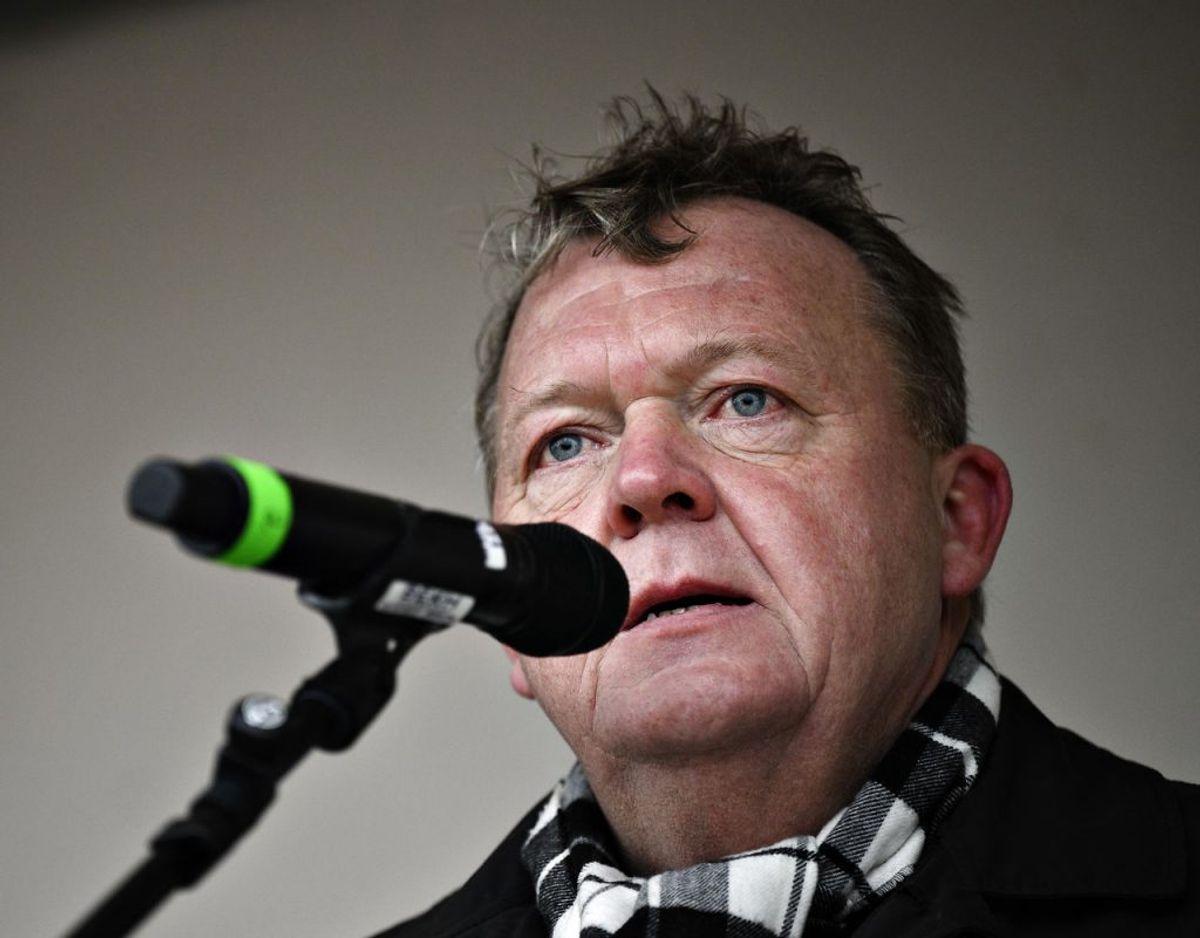 Lars Løkke Rasmussen meddelte sent frerdag aften at han har meldt sig ud af Venstre men fortsætter i Folketinget som løsgænger. Arkivfoto: Philip Davali/Ritzau Scanpix.