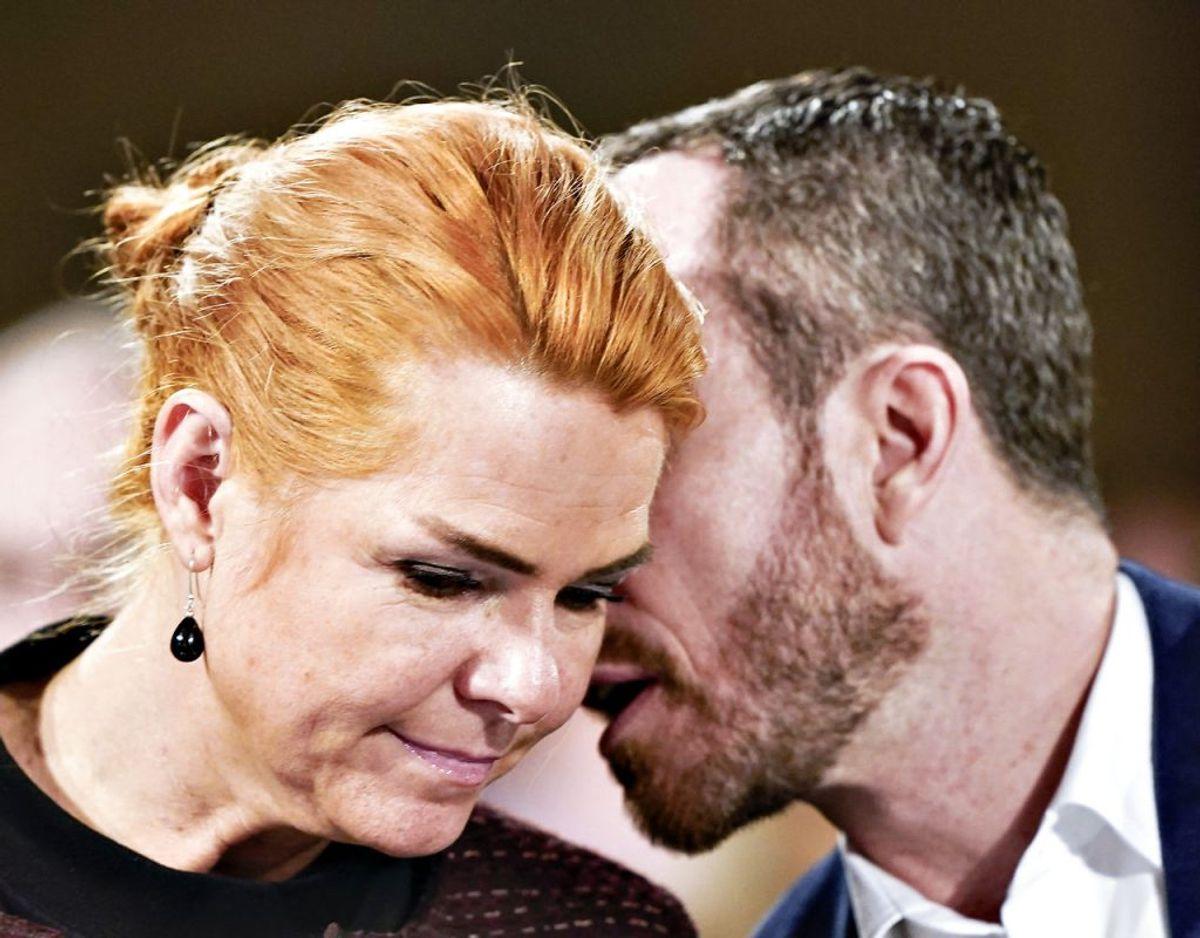 V-næstformand Inger Støjberg skriver på Facebook, at hun er helt uenig, efter at formand Jakob Ellemann-Jensen har åbnet for Venstre-støtte til rigsretssag. Arkivfoto: Ritzau Scanpix.