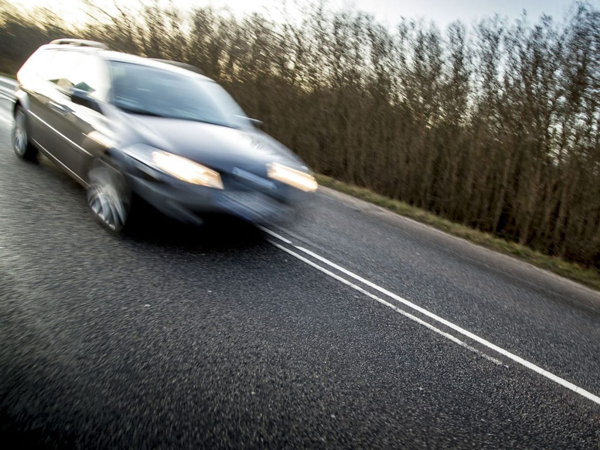 Vejdirektoratet vil forsøge sig med fartmærker på kantpælene for at mindske bilisters fart på de danske landeveje. KLIK VIDERE OG SE HVORDAN. Foto: Mads Claus Rasmussen/Ritzau Scanpix