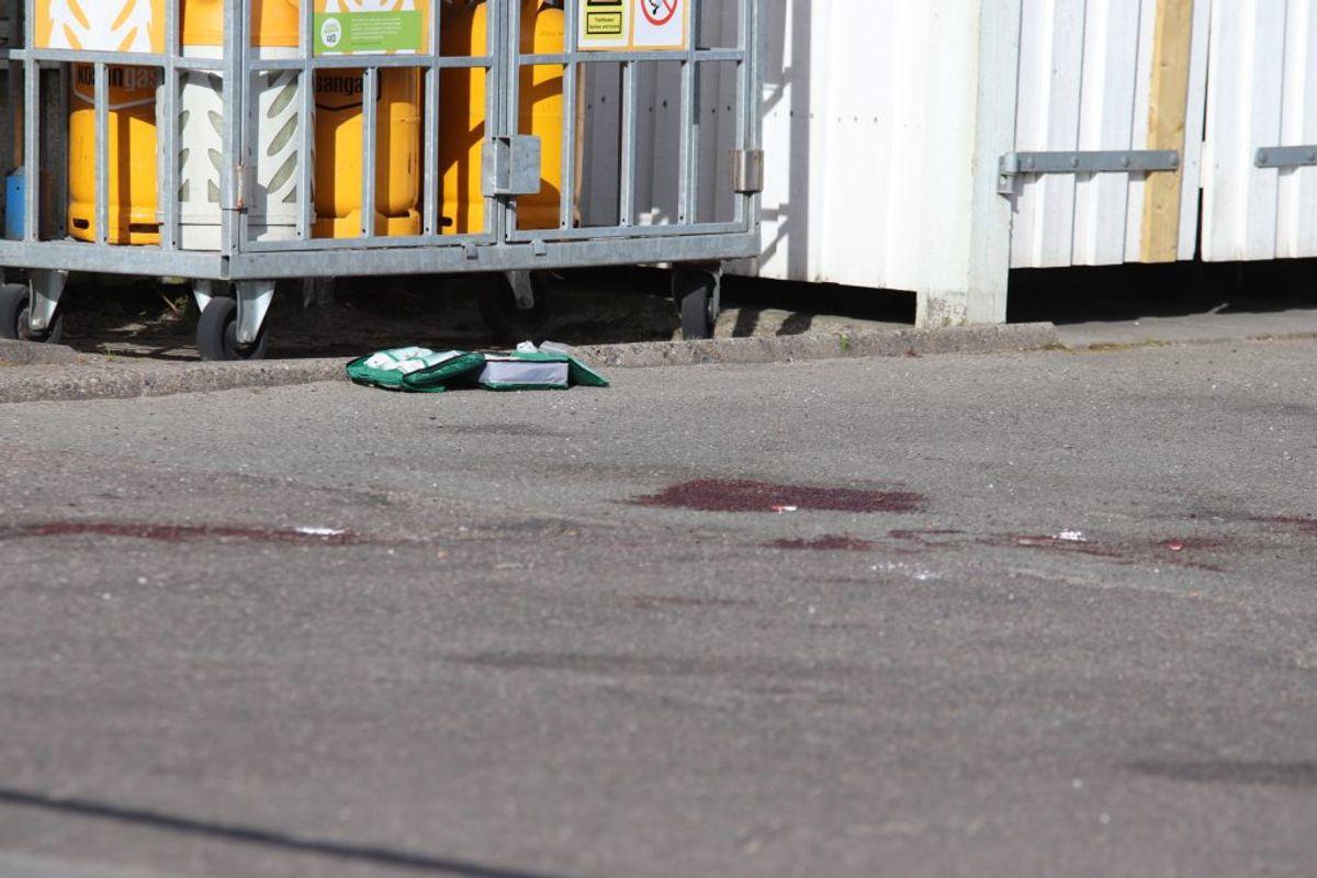 En 19-årig mand blev indlagt i kritisk tilstand efter at være blevet stukket flere gange. KLIK for mere. Foto: Presse-fotos.dk.