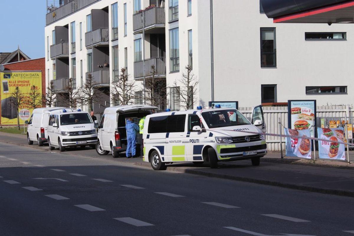 En 19-årig mand blev indlagt i kritisk tilstand efter at være blevet stukket flere gange. Foto: Presse-fotos.dk.