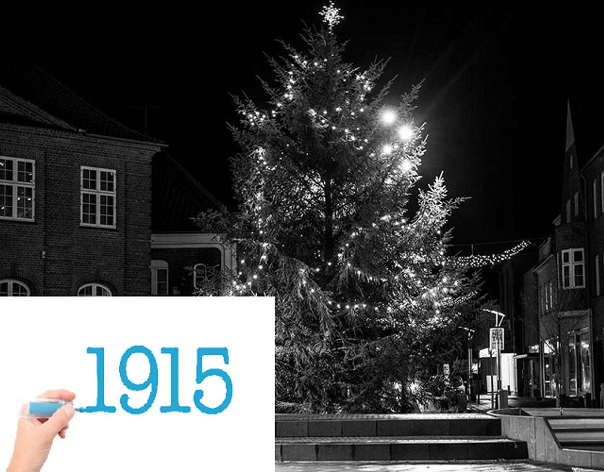 1915 var det første år siden 1900 med hvid jul. Foto: Colourbox.