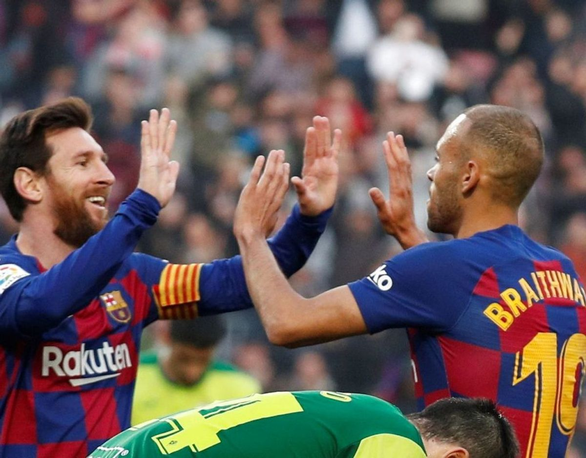 Både Martin Braithwaite og Lionel Messi scorede tirsdag aften. Sidstnævnte slog rekord. Arkivfoto: Scanpix