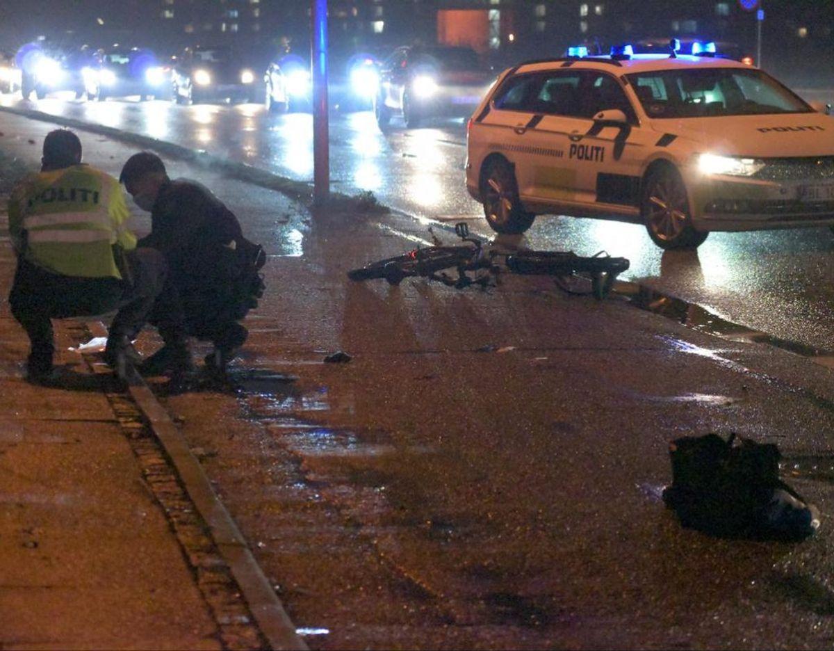 Cyklist kørt ned i dødskryds. Foto: Øxenholt Foto