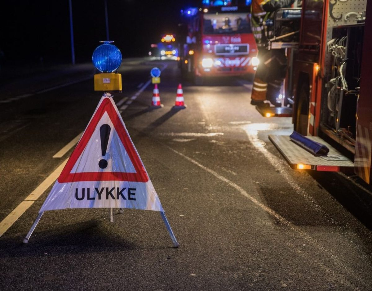 Motorvejen er spærret. Arkivfoto: Rasmus Skaftved