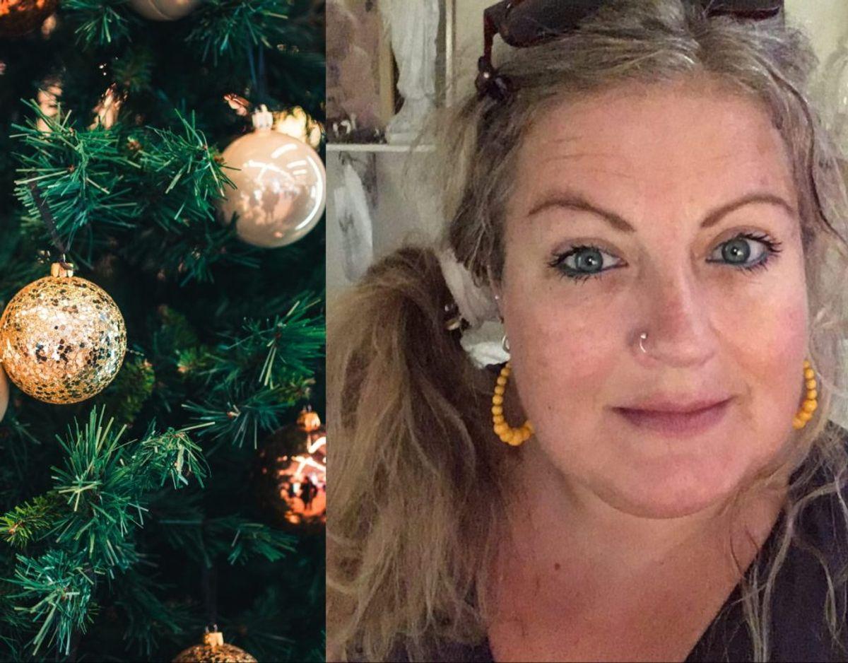 Helle Damm håber, at hun får tildelt julehjælp, så hun kan glæde sine børn.  Foto: Blå kors.