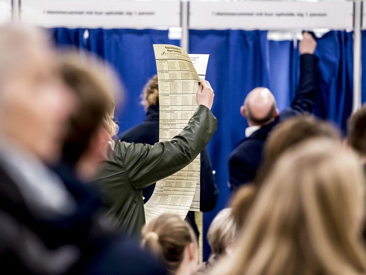 Kommunalvalg afholdes altid den tredje tirsdag i november hvert fjerde år. Næste gang er 16. november 2021. (Foto: Mads Claus Rasmussen/Scanpix 2017)