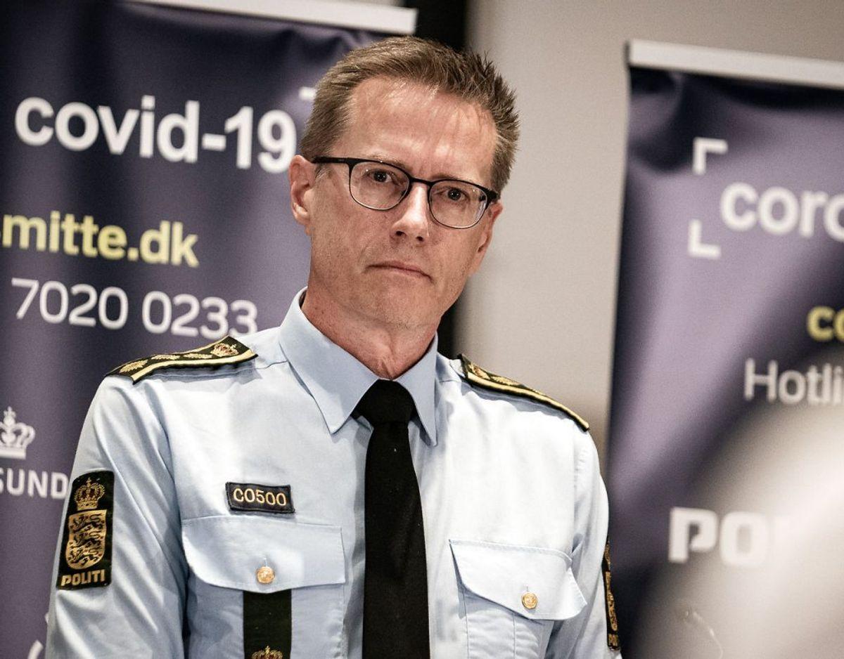 Rigspolitichef Thorkild Fogde afviser at have haft en rolle i udarbejdelsen af såkaldte actioncards. Foto: Emil Helms/Ritzau Scanpix