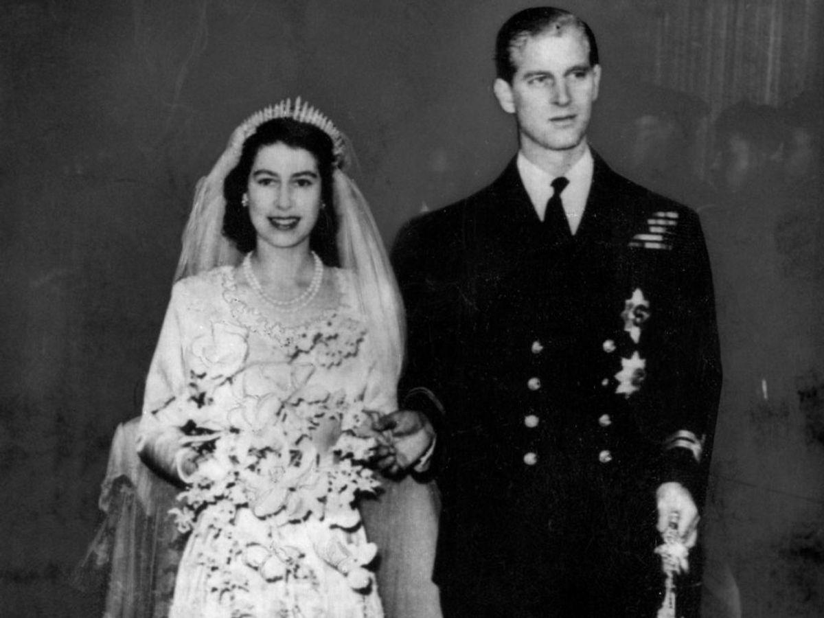 20. november 1947 giftede daværende prinsesse Elizabeth sig med Philip. De har dog kendt hinanden siden barnsben. Foto: Ritzau Scanpix/ Arkiv