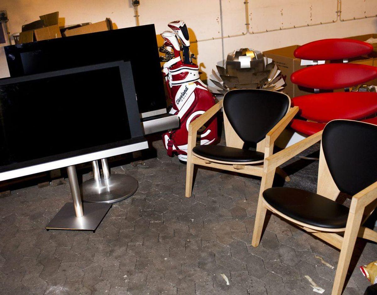 Tænk over hvor synlige dine værdifulde genstande som designmøbler, smykker eller dyrt elektronik er. Foto: Scanpix
