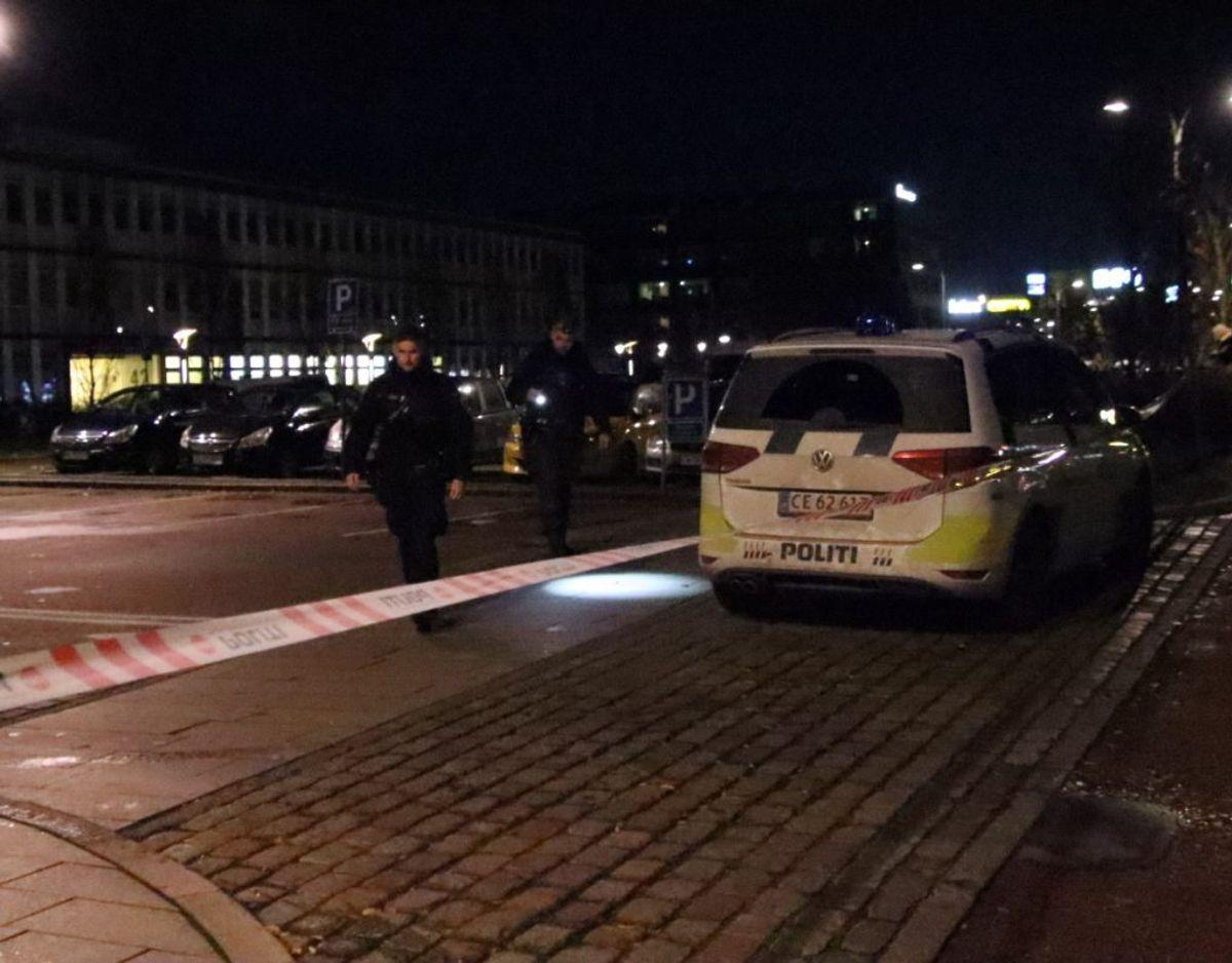 Politiet efterforsker et mulig skyderi. KLIK for flere billeder. Foto: Presse-fotos.dk.