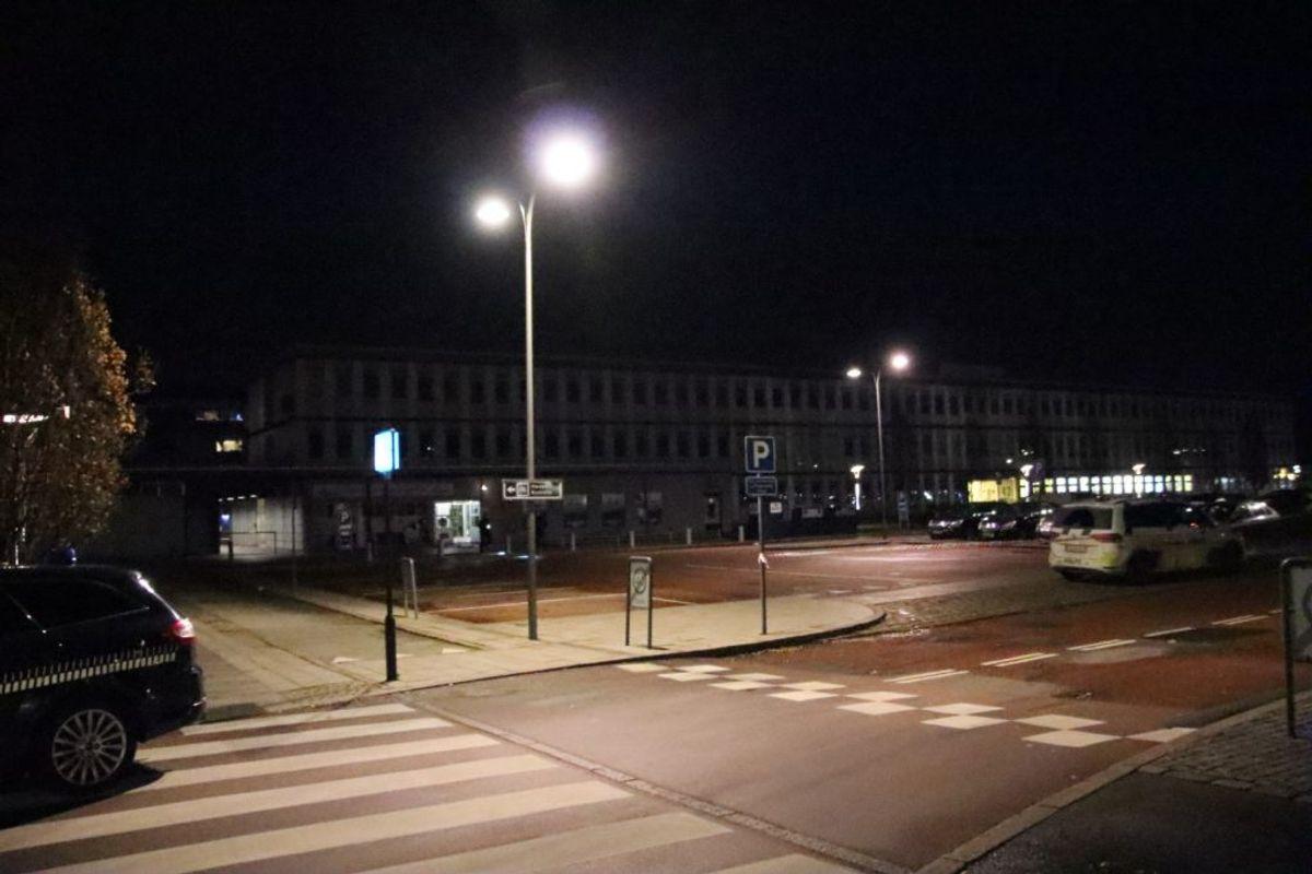 Politiet efterforsker et mulig skyderi. Foto: Presse-fotos.dk.