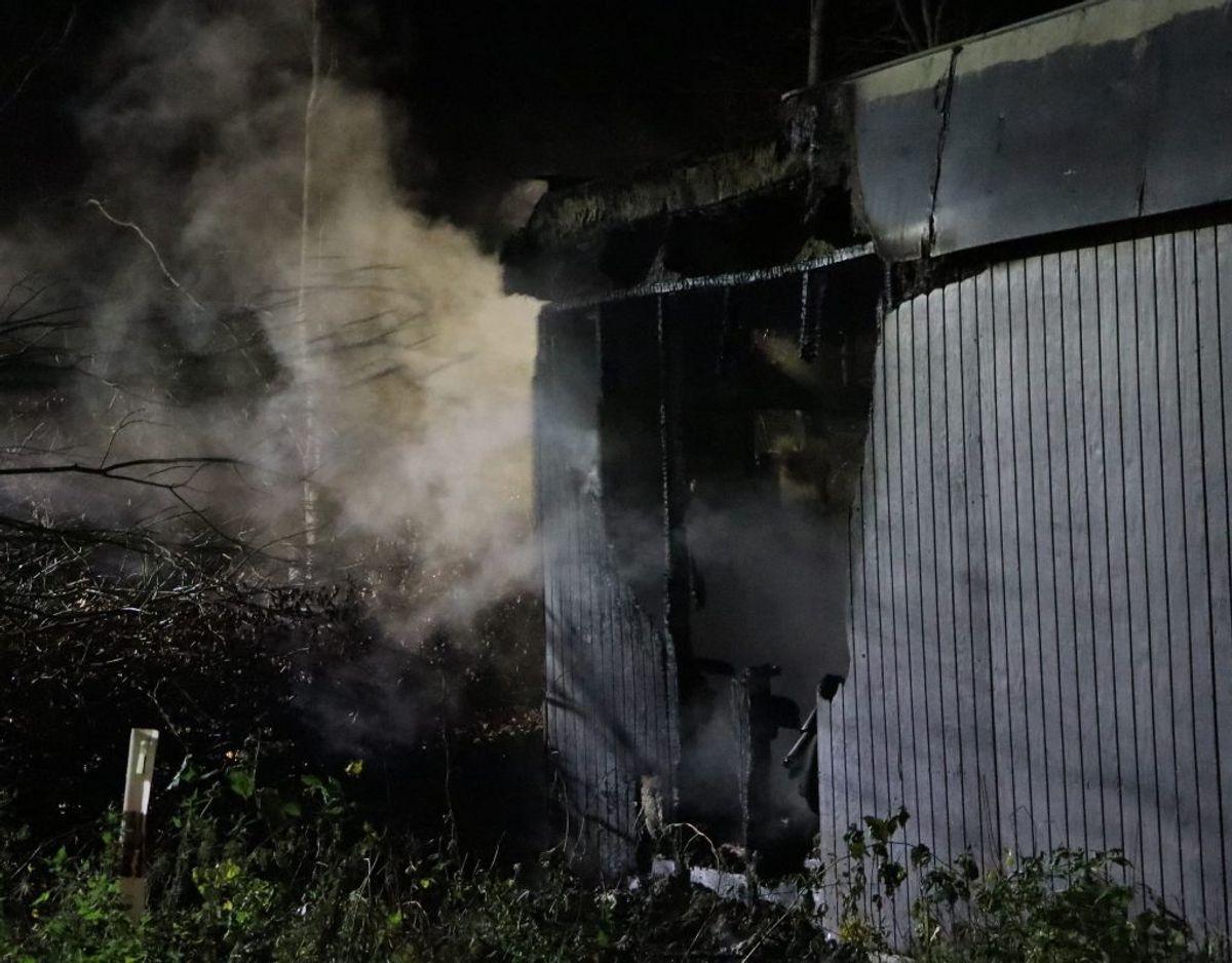 Branden blev anmeldt torsdag morgen. Foto: Øxenholt Foto.