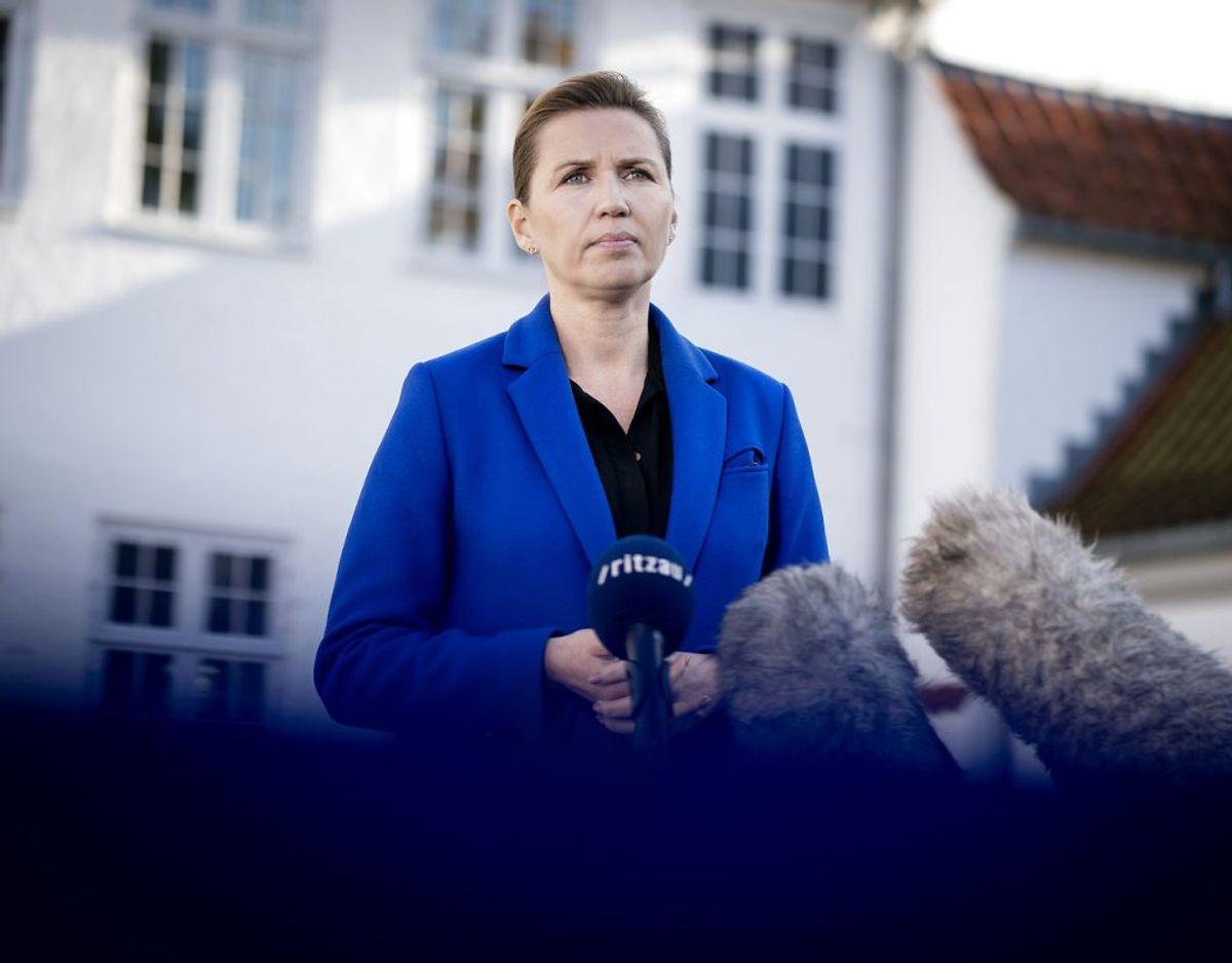 Mette Frederiksen sætter sit nye hold. (Foto: Liselotte Sabroe/Scanpix)