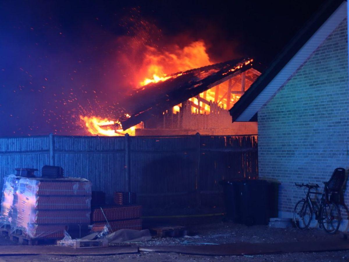 Branden blev anmeldt onsdag aften. Foto: Presse-fotos.dk.