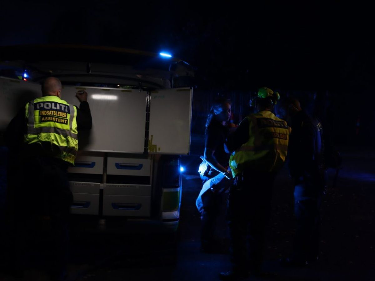 Alarmen lød klokken 20.46. Foto: Presse-fotos.dk.