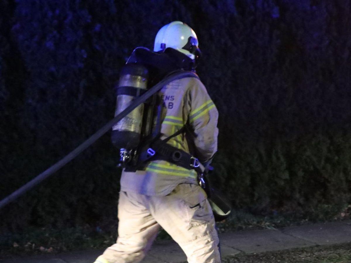 Villaen brændte stort set ned. Foto: Presse-fotos.dk.