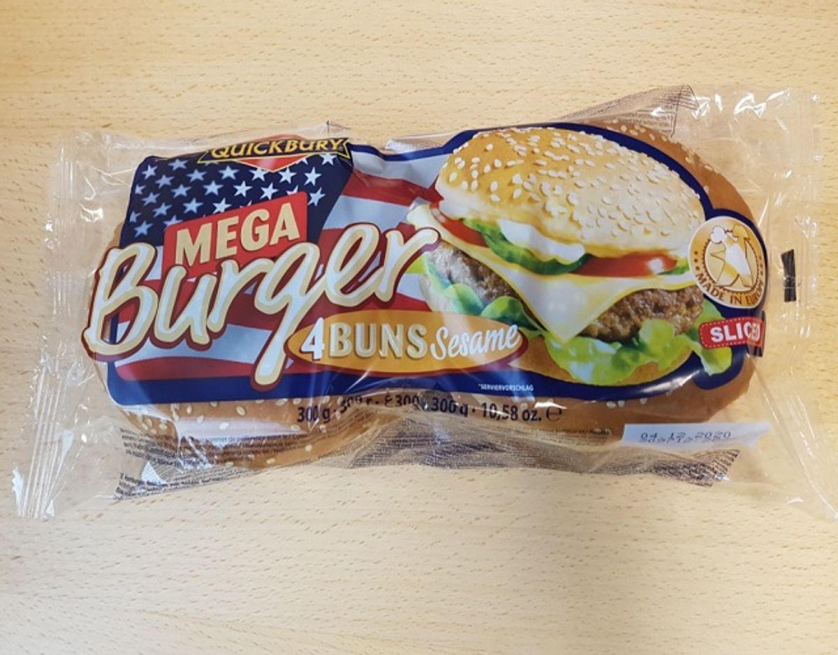 Det er disse burgerboller, der er kaldt tilbage. Foto: Fødevarestyrelsen.