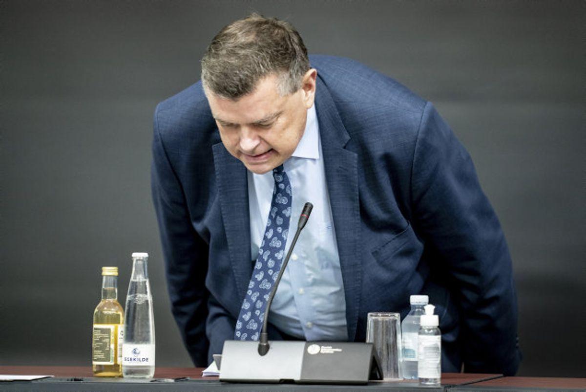 Mogens Jensen (S), minister for fødevarer, fiskeri og ligestilling samt minister for nordisk samarbejde, har onsdag valgt at trække sig i forbindelse med minksagen. Ifølge en professor vidste man, at ordren var ulovlig. Foto: Mads Claus Rasmussen/Scanpix