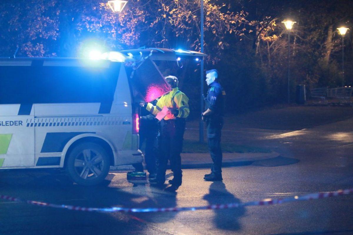 En er dræbt af skud i Kalundborg. KLIK FOR FLERE BILLEDER. Foto: Presse-fotos.dk