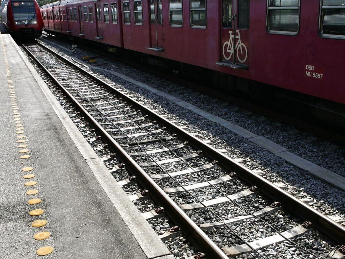 Togene mellem Hellerup og Østerport holder stille på grund af en personpåkørsel. Foto: Ritzau Scanpix