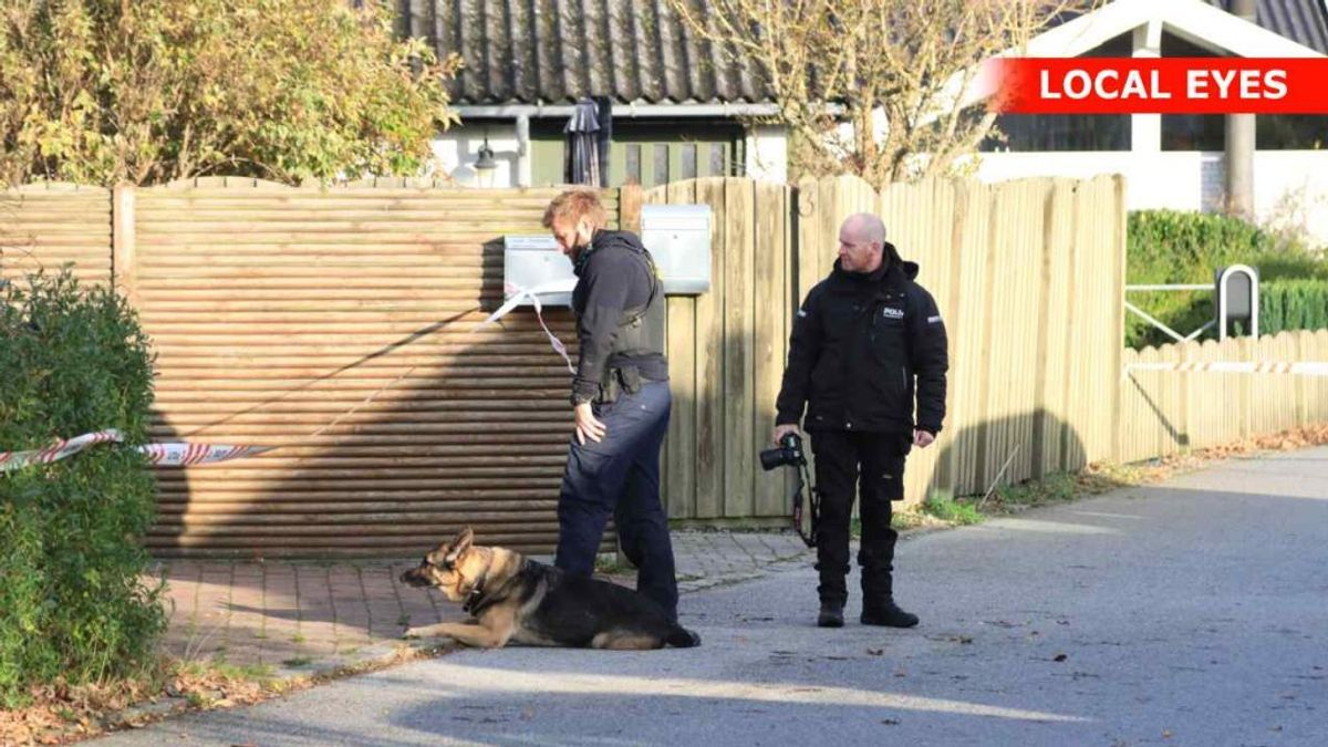 I løbet af mandagen har politiets tekniker og hunde undersøgt huset i Frederikssund. Foto: Local Eyes