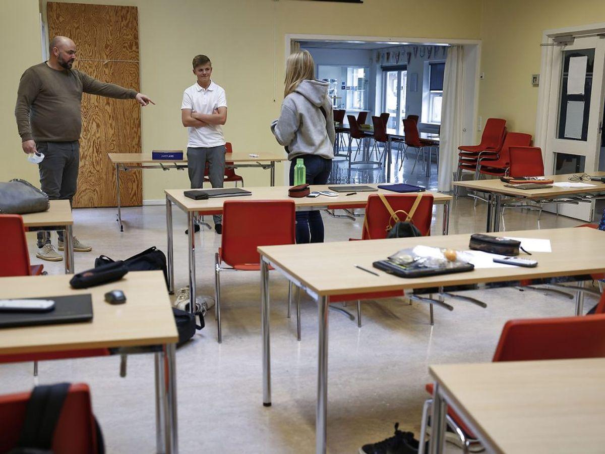 Videregående uddannelser er lukket, og studerende må kun få digital undervisning. Det gælder også eksamener. Foto : Claus Bjørn Larsen/Scanpix 2020