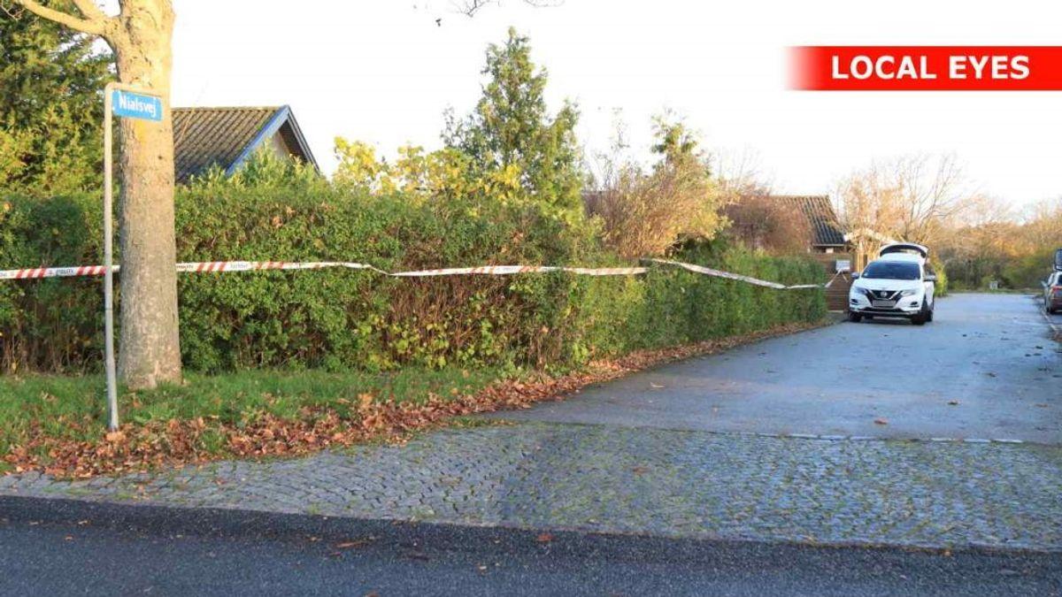 Det afspærrede hus var på Nialsvej. Foto: Local Eyes