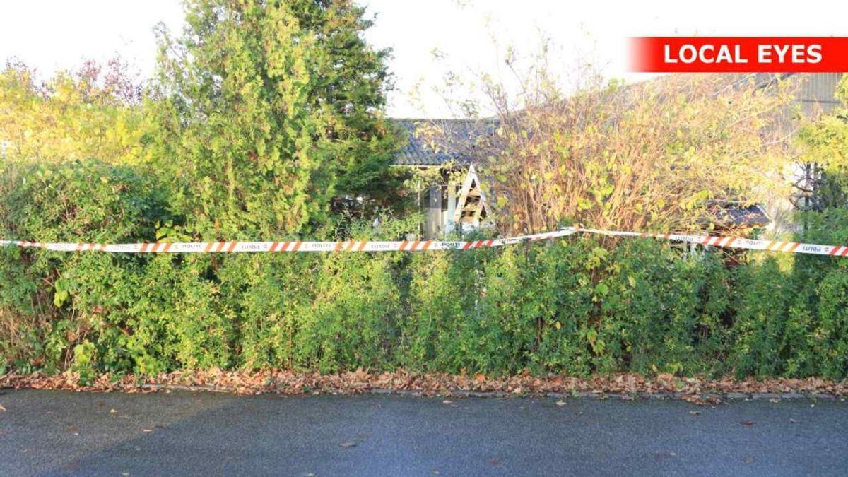 Politiet vil ikke sige meget om en afspærring i Frederikssund. Foto: Local Eyes