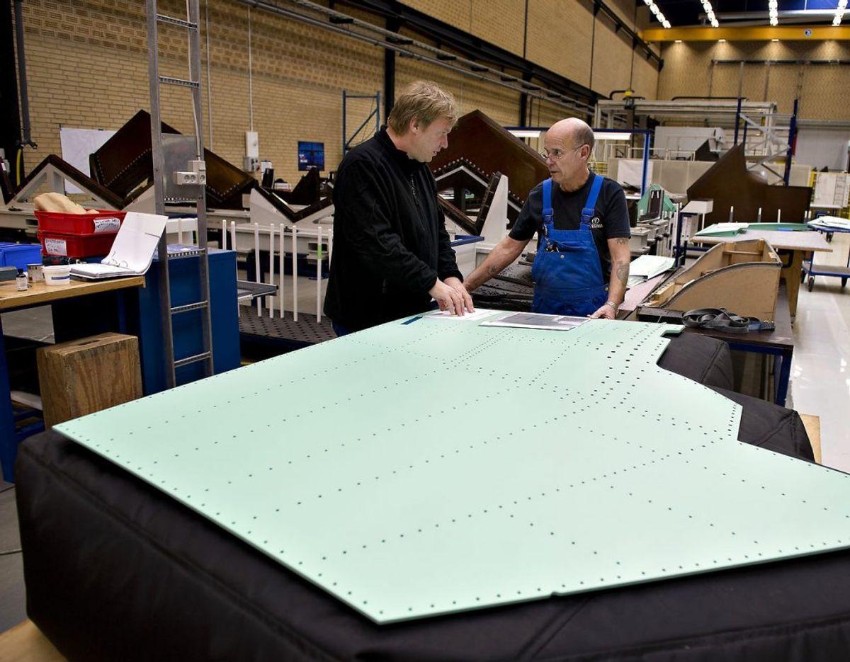 Blandt andet virksomheden Terma har været udsat for spionagen. Her på fabrikken i Grenaa. Foto: Scanpix