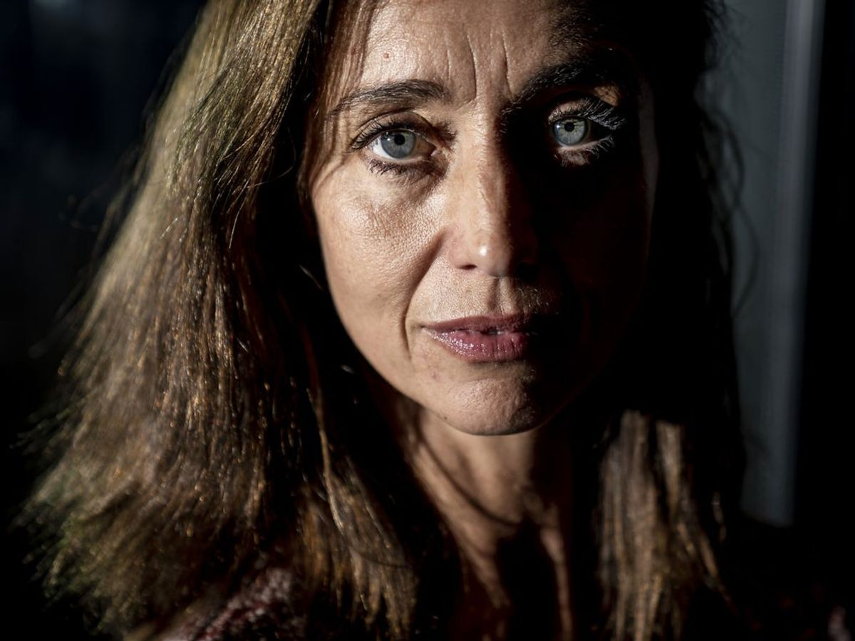 Christine Albeck Børge græd så meget på optagelserne til Ulven kommer, at hun havde rander under øjnene. KLIK VIDERE FOR FLERE BILLEDER. Foto: Mads Claus Rasmussen/Ritzau Scanpix