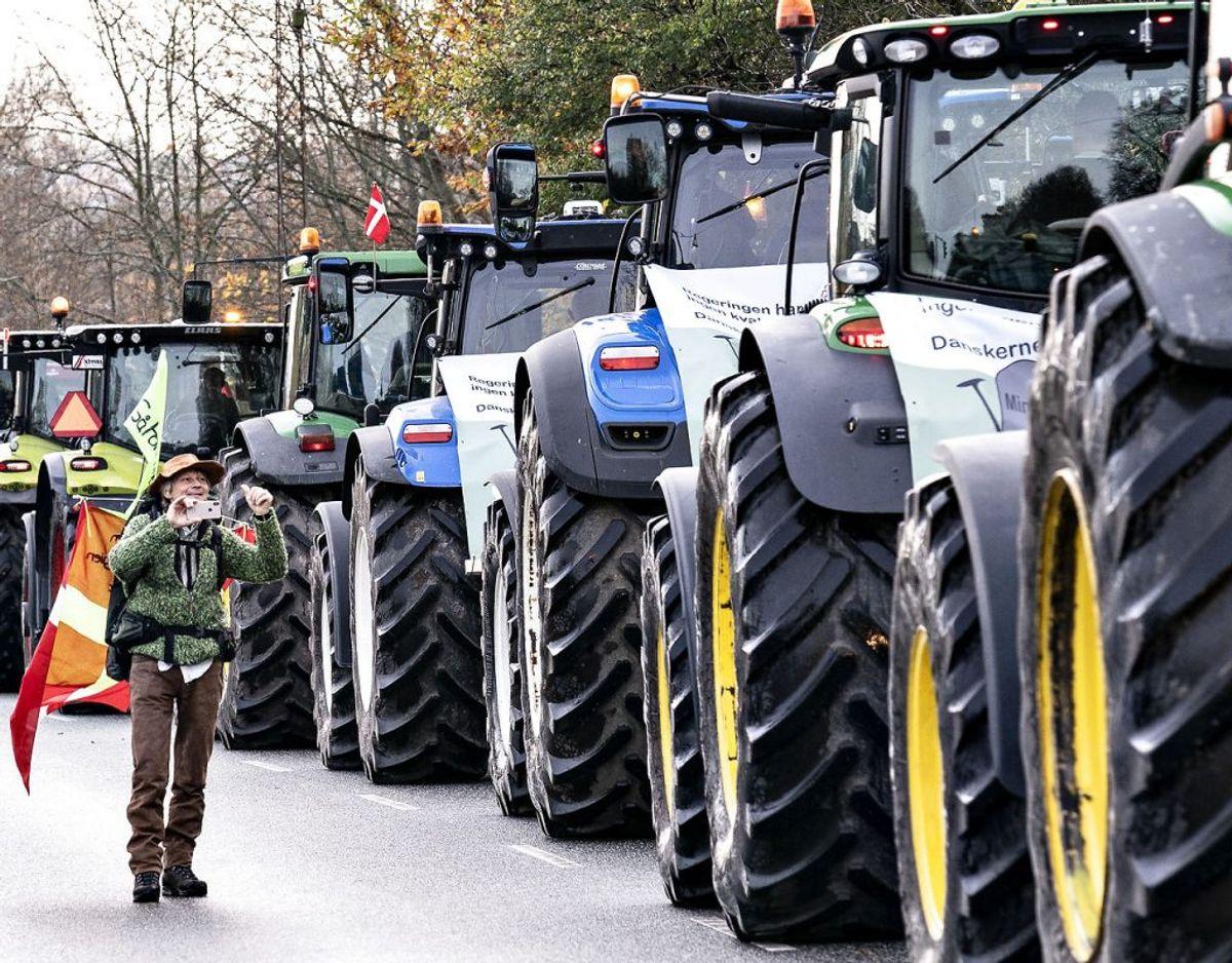 Traktorerne fylder i Aalborg. KLIK FOR FLERE BILLEDER. (Foto: Henning Bagger/Ritzau Scanpix)