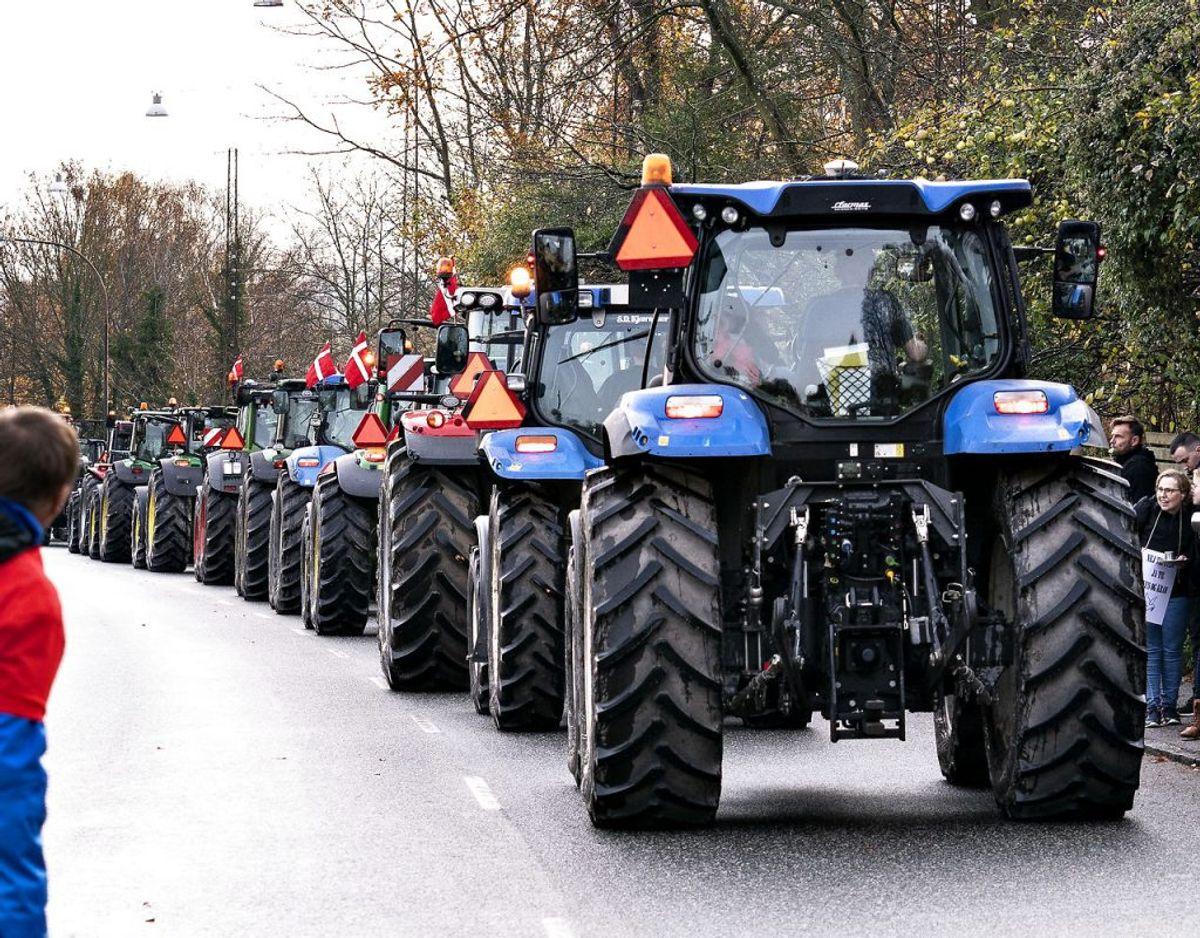 Landmænd på massevis traktorer samlet i demonstration i Aalborg, lørdag den 14. november 2020.. (Foto: Henning Bagger/Ritzau Scanpix)