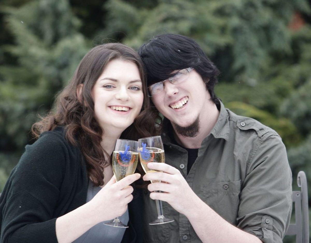 Kærligheden holdt ikke mellem Matt Topham og hans daværende forlovede, Cassey Carrington. Foto: Scanpix