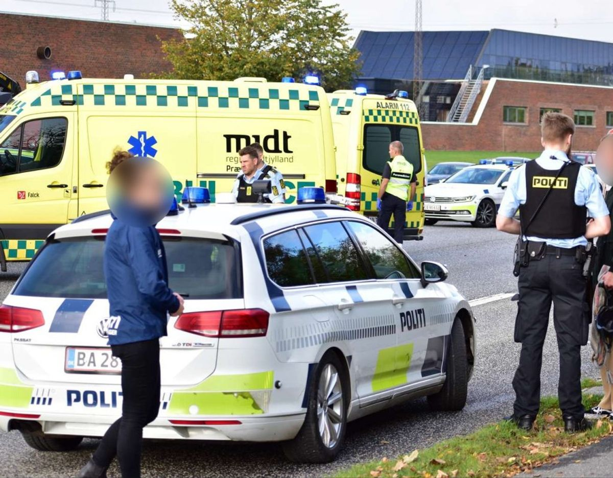 I oktober blev en 23-årig kvinde dræbt i krydset Åby Ringvej/Edwin Rahrs Vej i det vestlige Aarhus. Foto: Øxenholt Foto.