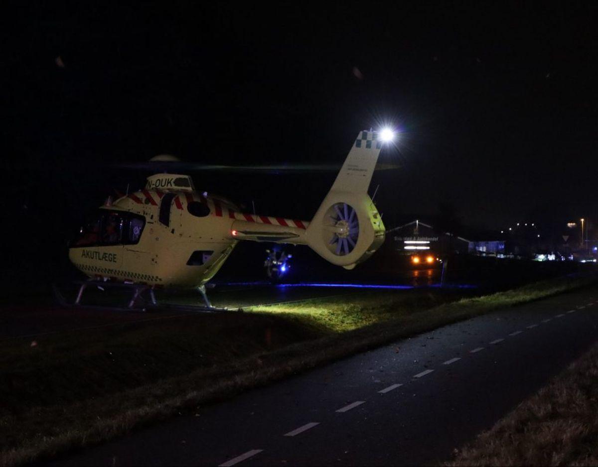 En 46-årig mand er fredag eftermiddag dræbt i en alvorlig ulykke. KLIK for flere billeder. Foto: Presse-fotos.dk.