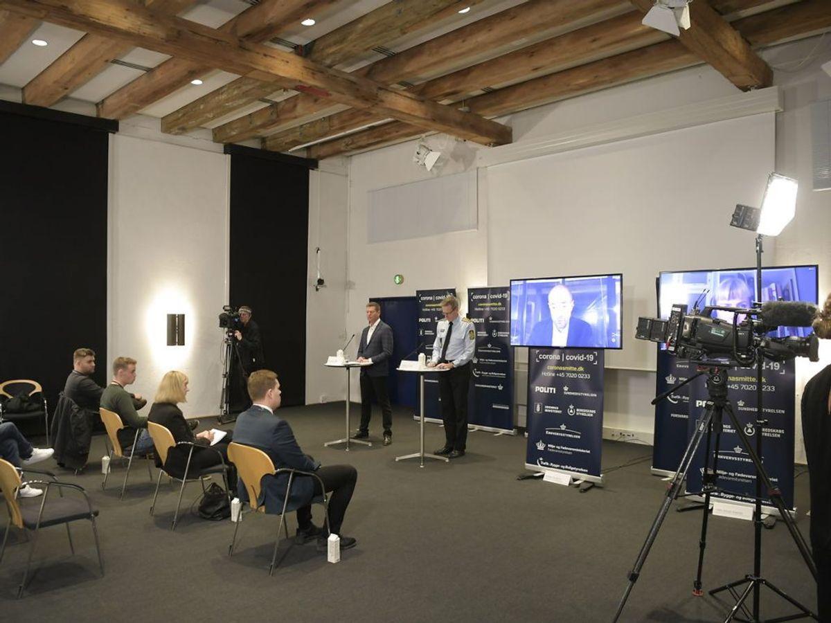 Det kom frem på fredagens pressemøde. Nils Meilvang/Ritzau Scanpix.