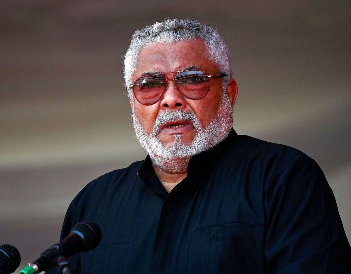 Jerry Rawlings var en af de helt store skikkelser i afrikansk politik. Foto: TONY KARUMBA / AFP