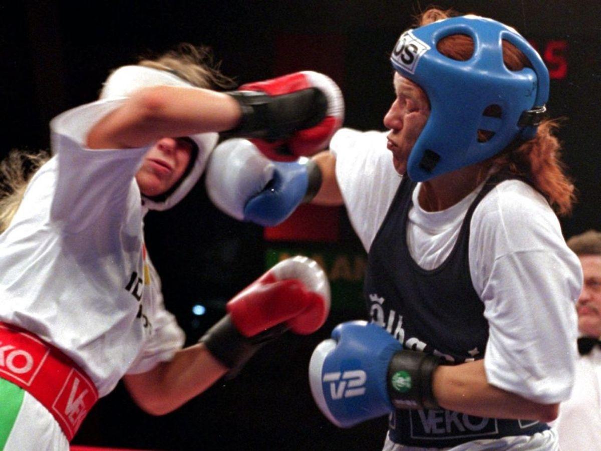 Den tidligere danske mester i boksning Gitte Dammann er død. KLIK VIDERE OG SE FLERE BILLEDER. Foto: Bnet K. Rasmussen NORDFOTO 1997