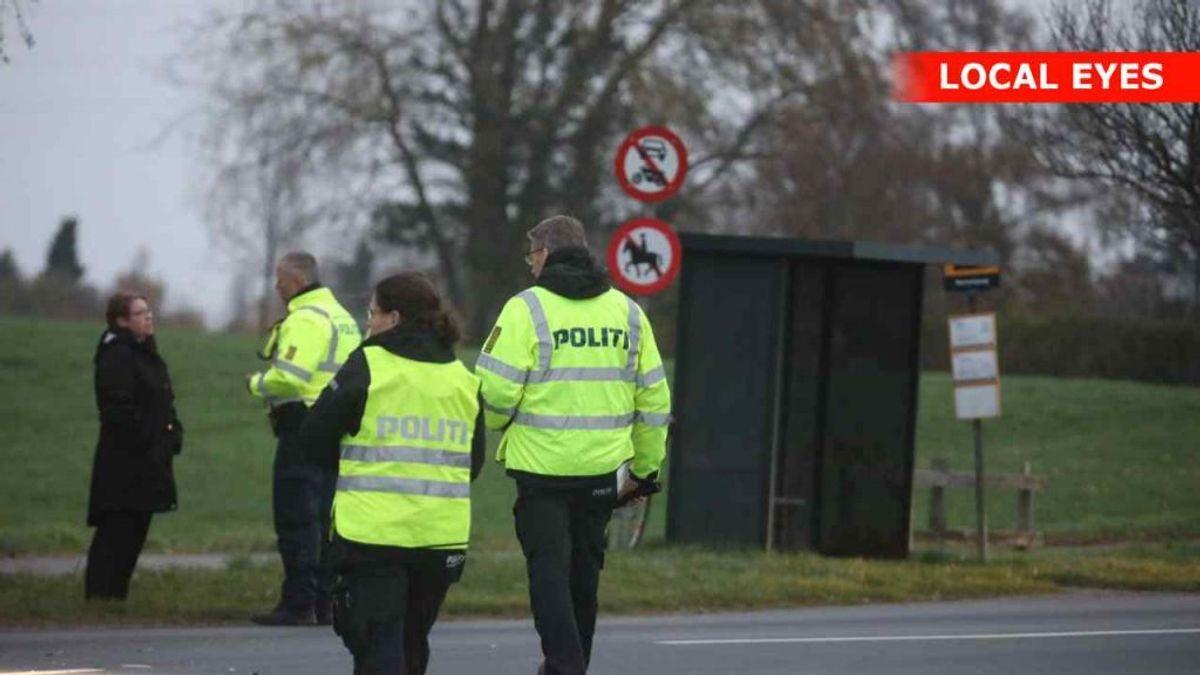 Politi efterforsker på stedet. Foto: Localeyes.dk