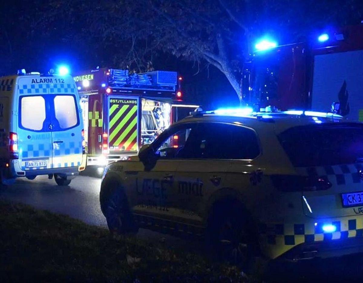 En snarrådig indsats fra en genbo har muligvis reddet en 32-årig mand. KLIK for flere billeder. Foto: Øxenholt Foto.