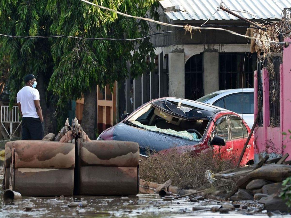 Sådan så der ud i Honduras, efter Eta havde været forbi. Foto: Orlando SIERRA/Scanpix.