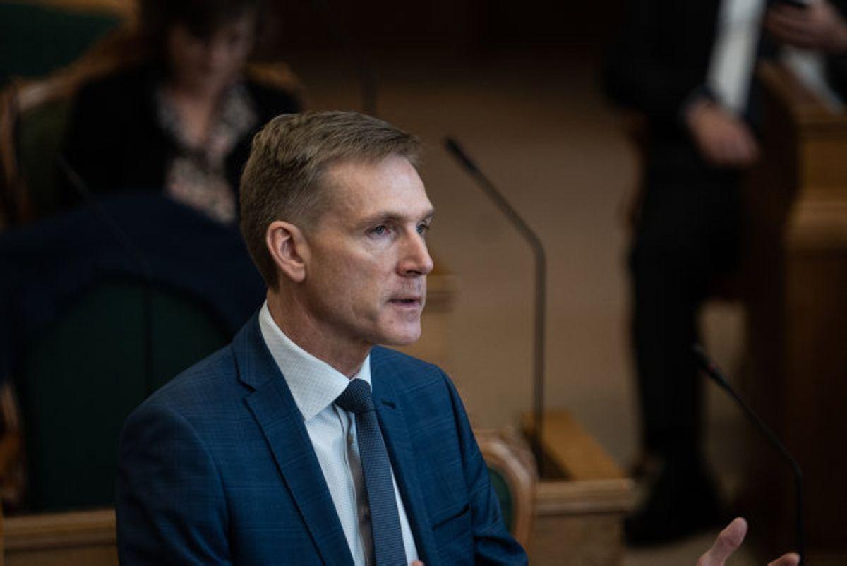 Kristian Thulesen Dahl (DF) kræver fødevareminister Mogens Jensens (S) afgang. Foto: Emil Helms/Scanpix