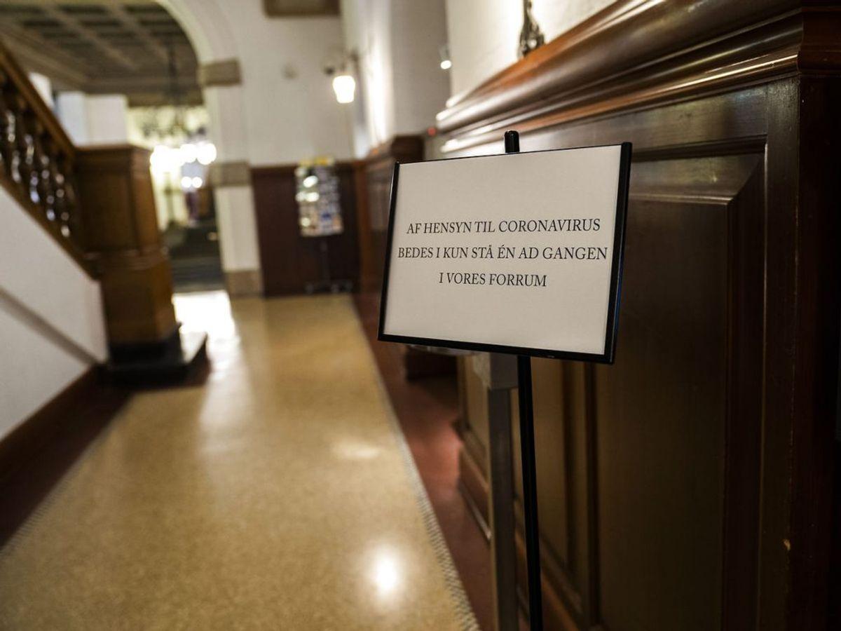 Restriktioner på grund af covid19 på Christiansborg, tirsdag den 10. november 2020. Mange møder aflyses på grund af frygt for coronasmitte.. (Foto: Martin Sylvest/Ritzau Scanpix)