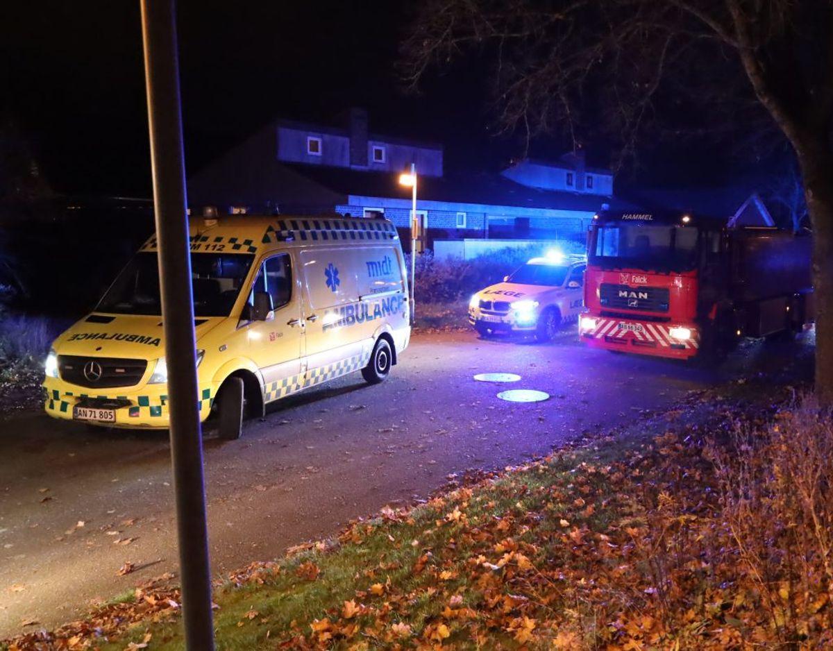 En mand blev dræbt i ulykken mandag aften. Foto: Øxenholt Foto.