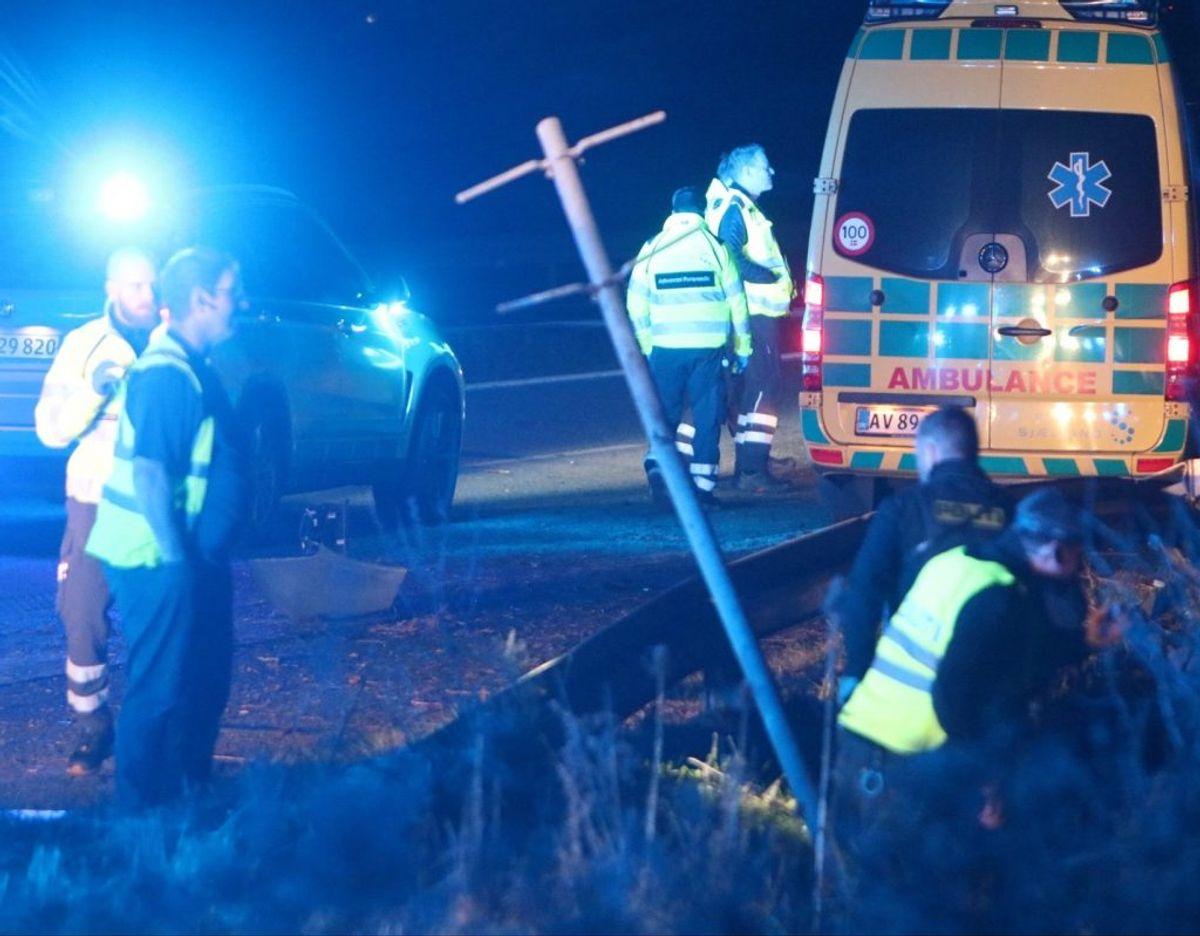 Manden blev fundet i grøften og kort efter erklæret død. KLIK FOR MERE. Foto: Presse-fotos.dk