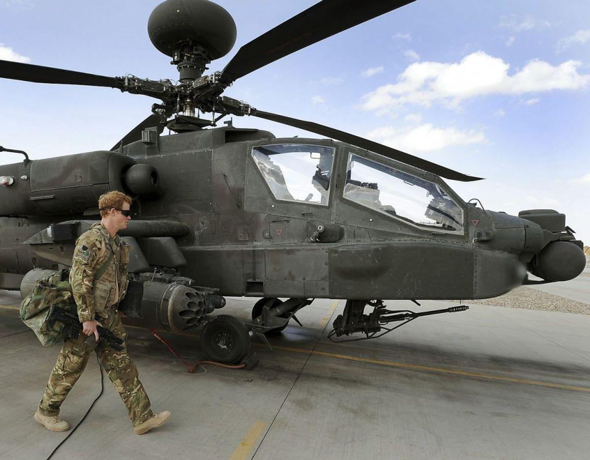 Harry har af to omgange været udsendt i aktiv militærtjeneste for Storbritannien i Afghanistan. Klik videre i galleriet for flere billeder. Foto: Scanpix/REUTERS/John Stillwell/Pool